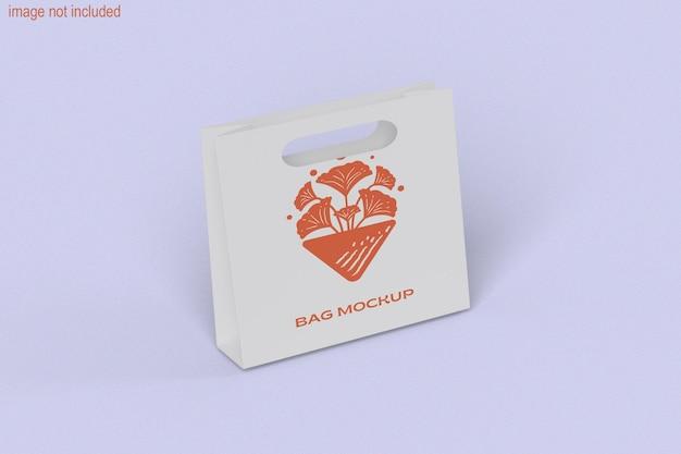 Shopping concetto di sacchetto di carta con mockup