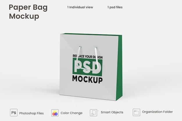 Mockup di sacchetto di carta dello shopping