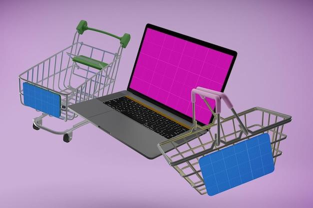 Shopping mockup del sito web