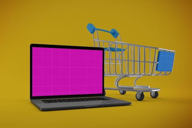 Mockup del sito web di acquisto