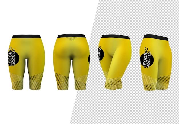 Pantaloni corti isolati mock up