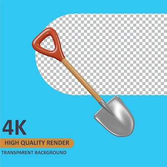 Pala cartoon rendering modellazione 3d