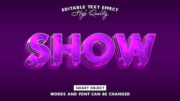 Mostra effetto stile testo