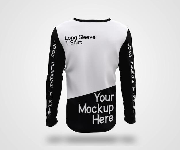Mockup di maglietta a maniche lunghe da uomo showcase