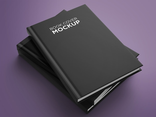 Disposizione mock-up copertina del libro minimalista vista laterale