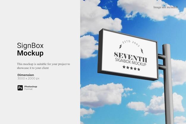 Segno box mockup design rendering