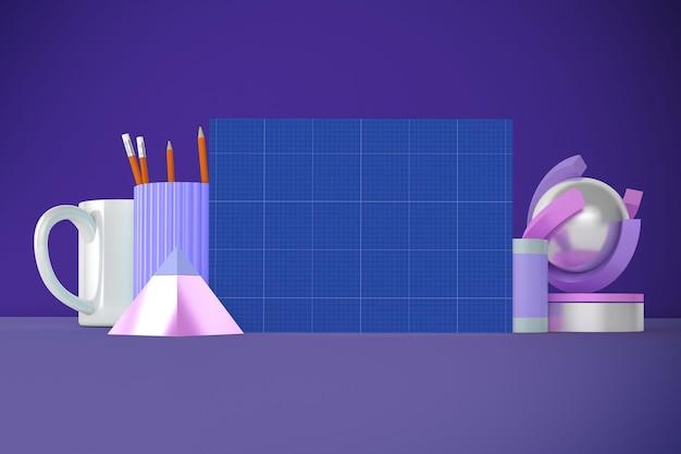 Cartello mockup desktop desktop