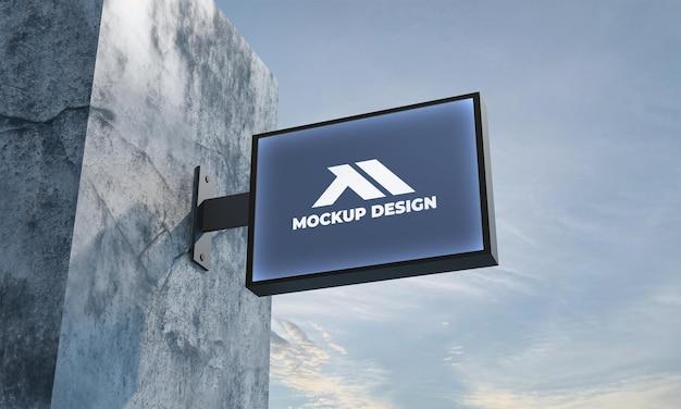 Mockup logo cartello