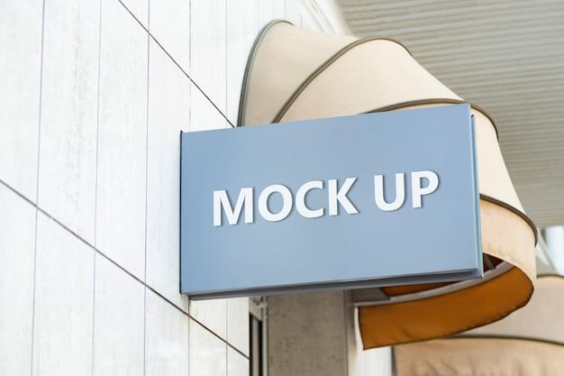 Mockup di cartello realistico