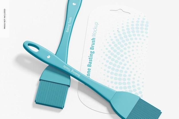 Mockup di pennelli per imbastitura in silicone, primo piano 02