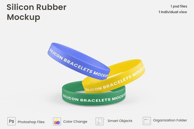 Mockup di bracciale in gomma siliconica
