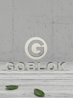 Mockup logo 3d argento