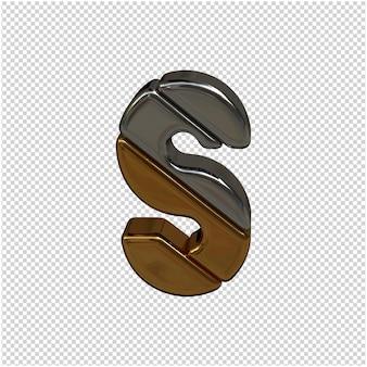 Rendering 3d di lettere d'argento e d'oro