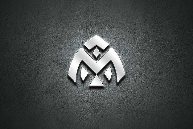 Logo mockup silverchromium