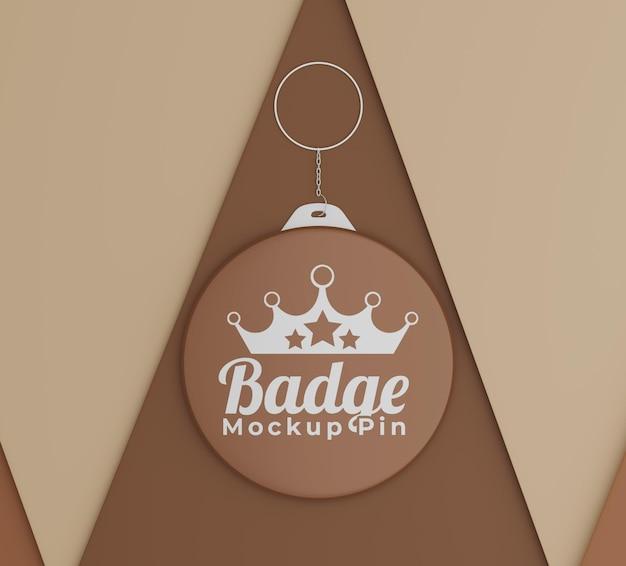 Modello di badge semplice con logo