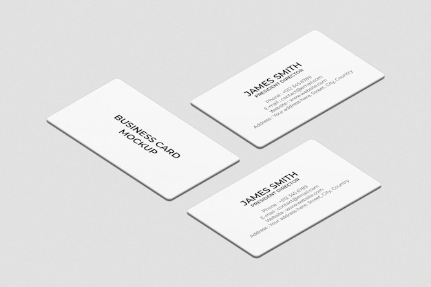 Design semplice del modello di biglietto da visita