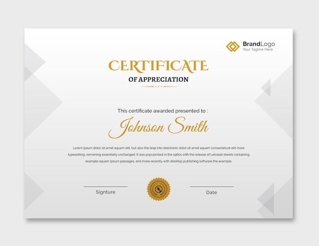 Modello di certificato semplice