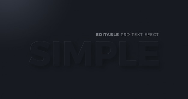 Neumorfismo scuro semplice effetto testo
