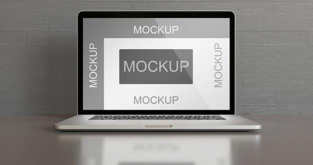 Mockup di laptop semplice sul tavolo