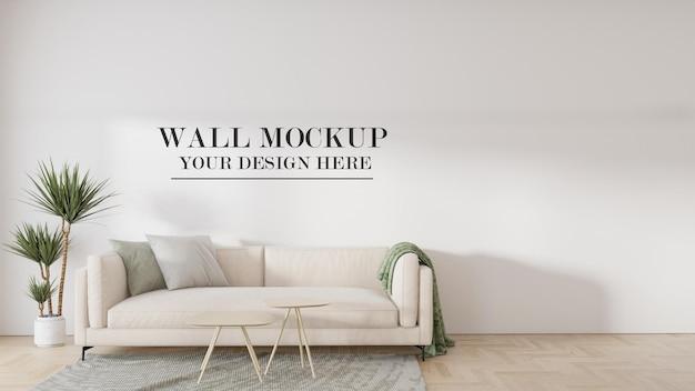 Semplice mockup della parete del soggiorno