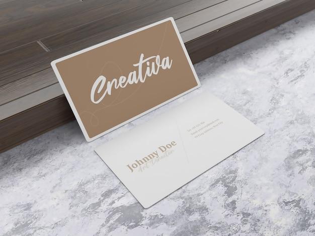 Semplice mockup di biglietti da visita di lusso minimalista