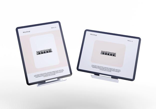 Mockup di tablet schermo semplice e moderno