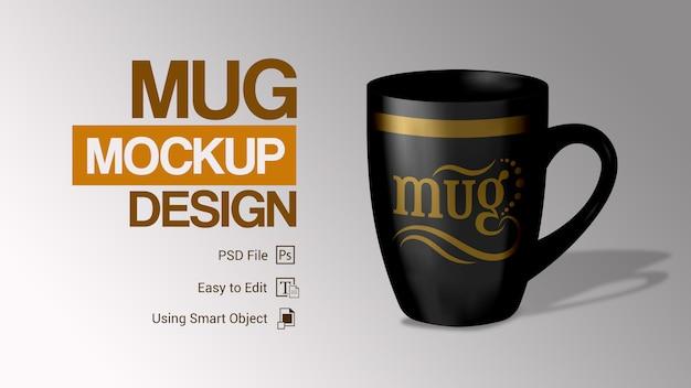 Design semplice tazza mockup
