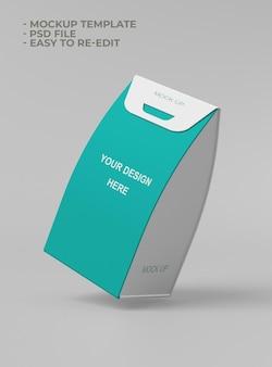 Mockup di packaging semplice