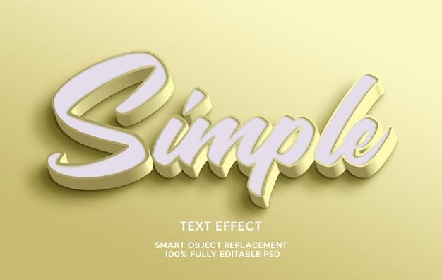 Modello di effetto testo semplice