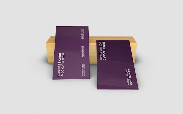 Mockup di biglietti da visita bello e semplice, semplicemente progettato