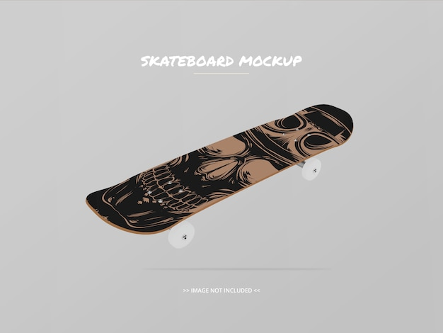 Skateboard mockup top side - floating 2
