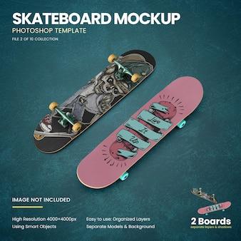 Skateboard sul floor mockup