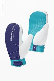 Mockup di guanti da sci, galleggiante