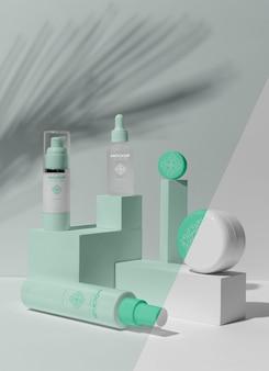 Disposizione del modello di prodotti per la cura della pelle