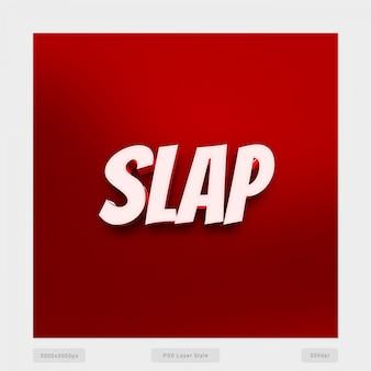 Slap effetto di stile testo 3d