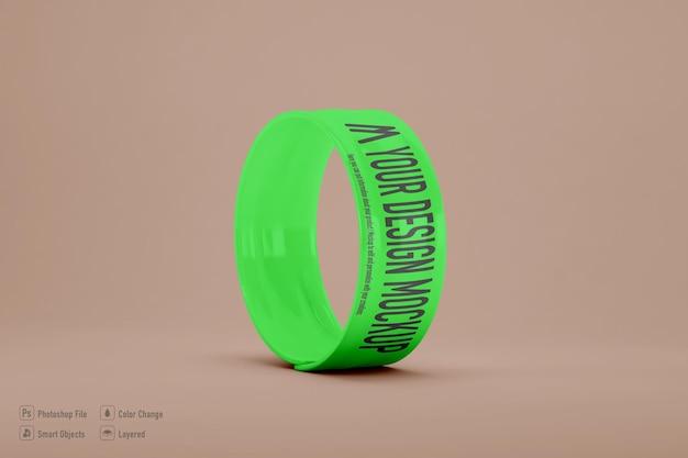 Mockup di braccialetto schiaffo isolato
