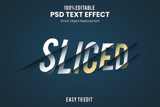 Modello di effetto di testo a fette