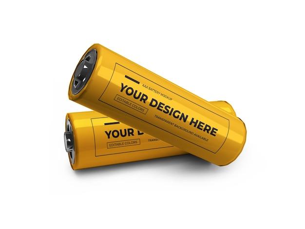 Piccolo mockup 3d della batteria aa isolato