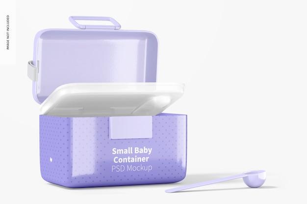 Mockup di contenitore per latte in polvere per bambini piccolo, aperto