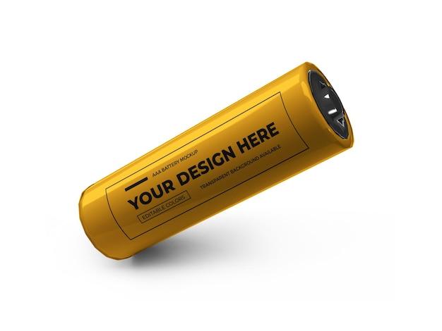 Design mockup 3d a batteria piccola