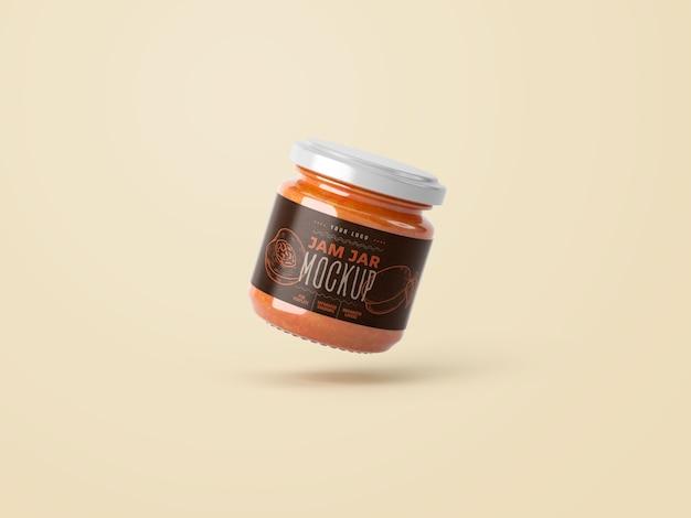 Mockup di marmellata di barattolo piccolo