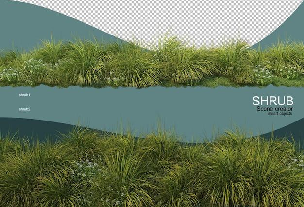Renderigng display paesaggistico piccolo isolato
