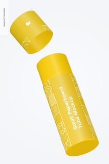 Mockup di tubo di cartone piccolo, galleggiante
