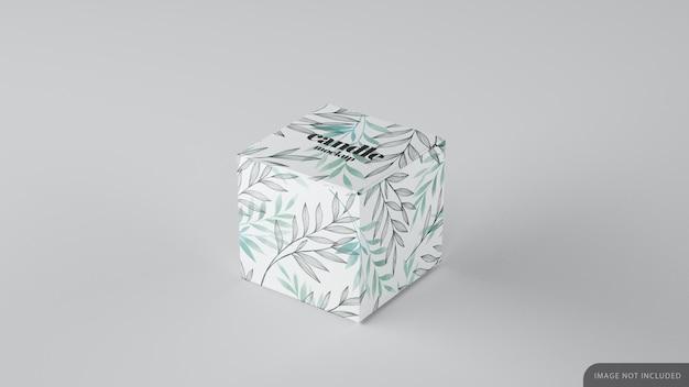 Mockup di scatola cubica di piccolo prodotto