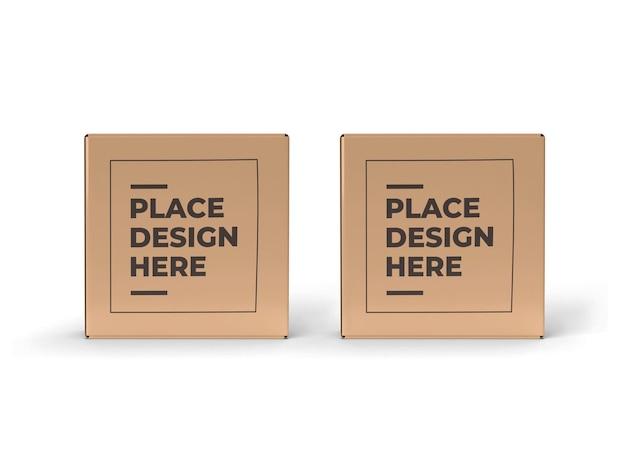 Mockup di confezione piccola scatola quadrata