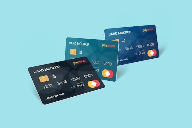 Progettazione di mockup di carte di debito con smart card