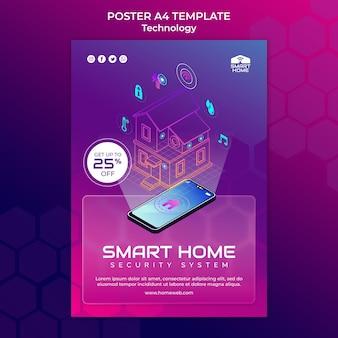 Modello di stampa della casa intelligente illustrato