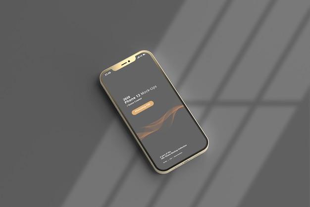 Mockup di smartphone con sovrapposizione di ombre