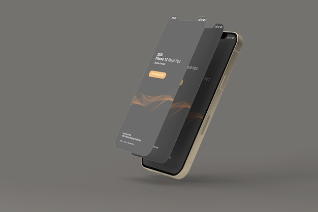 Mockup di smartphone con schermo scollegato