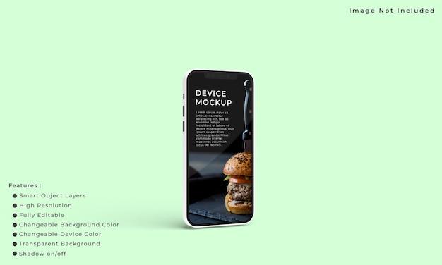 Smartphone e mockup dello schermo per la presentazione dell'interfaccia dell'applicazione